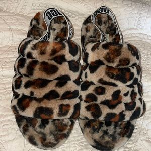 Cheetah print Ugg Sandals/Slippers